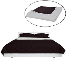 Couvre-lits à double côtés Beige/Marron 220 x