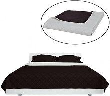 Couvre-lits à double côtés Beige/Marron 230 x