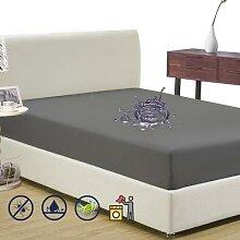 Couvre-matelas imperméable sur le dessus de lit,