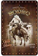 Cowboy Western rodéo Vintage cheval à cheval