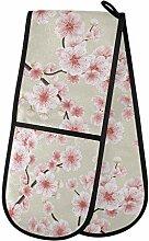 CPYang Gants de cuisine double fleur japonaise