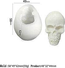 Crâne silicone bougeon moulage mousse décoration