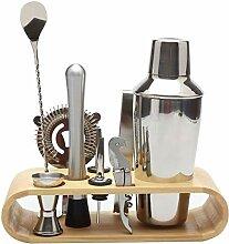Cratone 10pcs Kit Cocktail Shaker Professionnel
