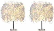 Cratone Lot de 2 Lampe de Table Plume Lampe de