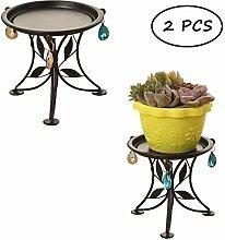 Cratone Lot de 2 supports en pot en métal pour