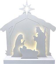 Crèche de Noël moderne et lumineuse
