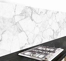 Crédence adhésive cuisine PVC 190_x_60_cm marbre