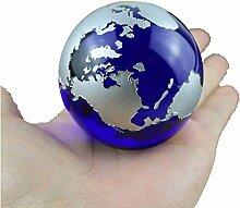 Cristal Globe Carte du Monde Feng Shui Cadeau