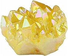 Cristal Naturel Belle flamme jaune naturelle Aura