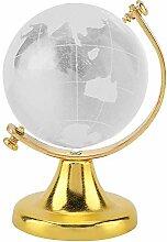 Cristal Quartz sphère-ronde globe terrestre carte