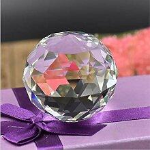 Cristal verre à facettes boule de cristal statue