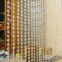Cristal verre perle rideau de luxe salon chambre