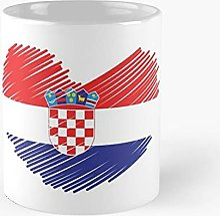 Croatia Art Heart White - Meilleure tasse à café