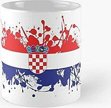 Croatia Spatter Art - Meilleure tasse à café en