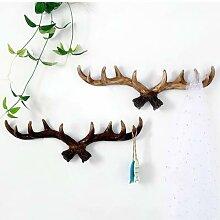 Crochet en bois rétro pour meubles de maison,