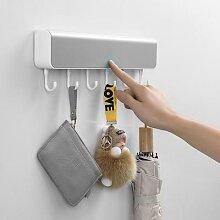 Crochets muraux créatifs, boîte à clés,