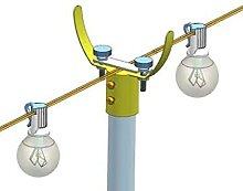 Crtkoiwa Lampadaire Extérieur, Lampe De Porte De