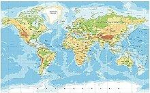 CRTTRC Puzzle 4000 pièces - Carte du monde des