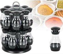Cruet rotatif de pots à condiments, ensemble de