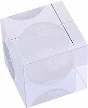 Crystal Cube verre boule affichage lune
