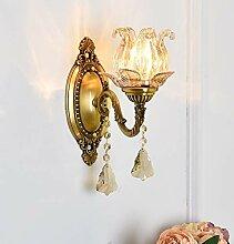 Crystal Européenne Elegance Sconce Lampe murale