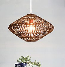 CSSYKV Lustre en Bambou en Rotin E27 Artisanat en
