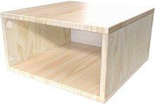 Cube de rangement 50x50 cm bois 50x50 Vernis