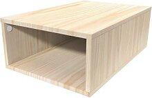 Cube de rangement 75x50 cm bois Brut