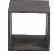 Cube de rangement béton de 40 cm gris foncé