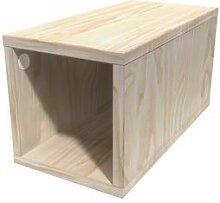 Cube de rangement bois 25x50 cm 25x50 Brut