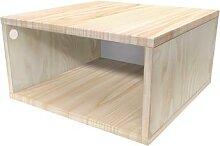 Cube de rangement bois 50x50 cm 50x50 Brut