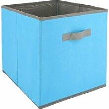 Cube de rangement cartonnée 27l bleu