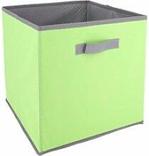 Cube de rangement cartonnée 27l vert