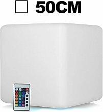 Cube LED Lumineux Multicolore 50CM Rechargeable