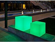 Cube lumineux 53cm outdoor Solaire+Batterie