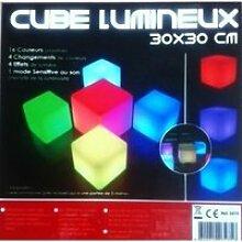 Cube lumineux à LED,sans fil,à