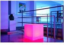 Cube lumineux led multicolore sur batterie