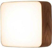 CUBE M-Applique ou Plafonnier LED Bois L25cm noyer