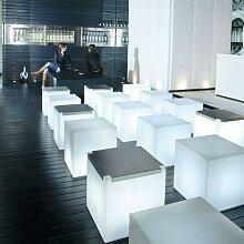 CUBO-Cube lumineux d'extérieur H43cm Blanc