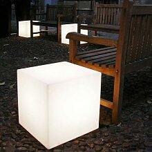 CUBO-Cube lumineux d'extérieur H60cm Blanc