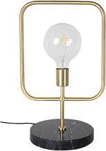 Cubo - Lampe à poser industrielle métal et marbre