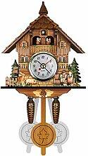 Cuckoo Wall Clock Réveil Carillon Horloge en Bois