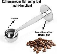 Cuillère à café 2 en 1 en acier inoxydable,