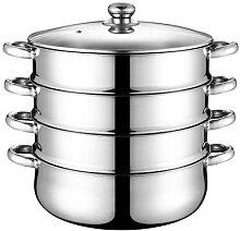 Cuiseur vapeur à quatre couches, marmite