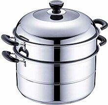 Cuiseur vapeur en acier inoxydable, marmite avec