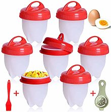 Cuit Oeufs,7PCS Cuit Oeufs Pocheuse Silicone, Oeuf