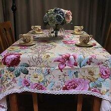 CURCYA – nappe en coton à fleurs pastorales,