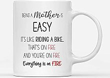 Custom Mugs Being A Mother Is Easy Like Riding a