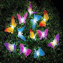 cuzile LED Chaîne Solaire Lumière Papillon