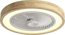 CXC Ventilateur De Plafond En Bois,Ø50cm